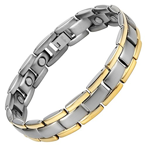 titanium-magnetic-therapy-bracelet-two-tone-adjustable-by-willis-judd