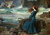 John William Waterhouse: Miranda, The Tempest. (Shakespeare) Fine Art Print/Poster. Size A4 (29.7cm x 21cm)