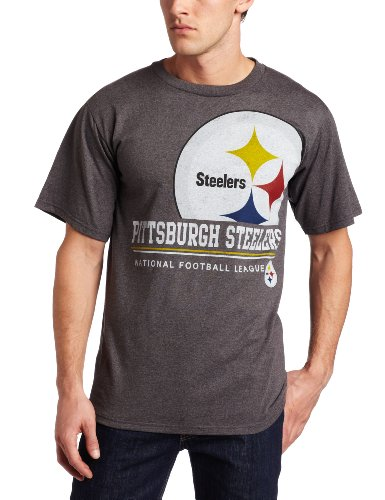 NFL Men's Pittsburgh Steelers Submariner Short Sleeve T-Shirt (Charcoal Heather, Small)