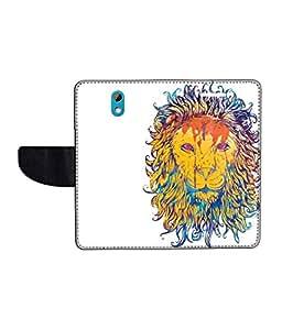KolorEdge Printed Flip Cover For HTC Desire 526G Plus Multicolor - (50KeMLogo11966HTC526GPlus)