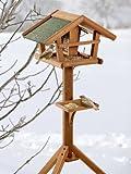 Pet Products - Karlie Flamingo Bird's World Wild Vogelhaus Runa, 46 x 30 x 121 cm, Naturholz