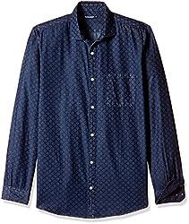 Ruggers Men's Casual Shirt (8907242820880_267797258_Small_Blue)