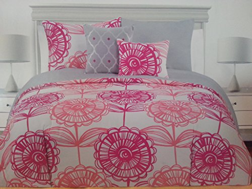 Coral Duvet Cover Queen front-1035989