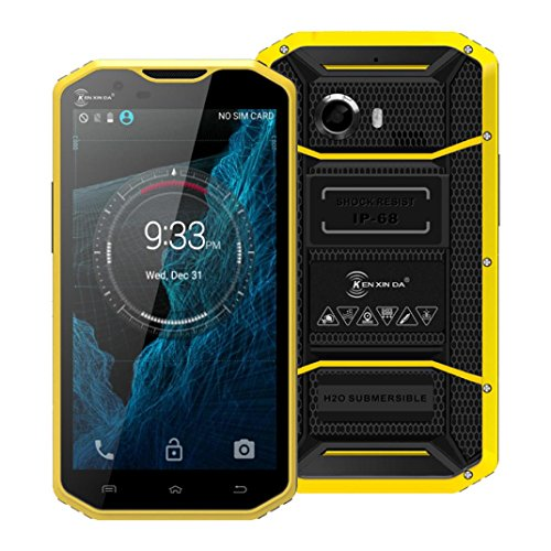 "Hotsale!Elevin(TM) Kenxinda W8 4G LTE IP68 Waterproof 5.5"" Android 5.1 16GB Unlocked GSM Smartphone (Yellow)"