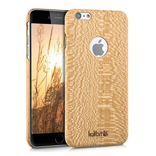 kalibri-Holz-Case-Hlle-fr-Apple-iPhone-6-Plus-6S-Plus-Handy-Cover-Schutzhlle-aus-Echt-Holz-und-Kunststoff-aus-Seideneichenholz-in-Bambus