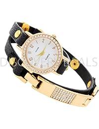 "Kitcone ""LIMITED EDITION"" Designer Jewelry Bracelet Style Long Belt DIamond Studded Womens ,Girls &ladies Watch - B01FDAB654"