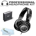 Audio-Technica ATH-M50 Professional Studio Monitor Headphones with FiiO E6 Headphone Amplifier by audio-technica