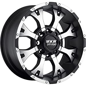MKW Offroad M85 17 Black Wheel / Rim 8×6.5 with a -10mm Offset and a 130.8 Hub Bore. Partnumber M85-17908165-10B
