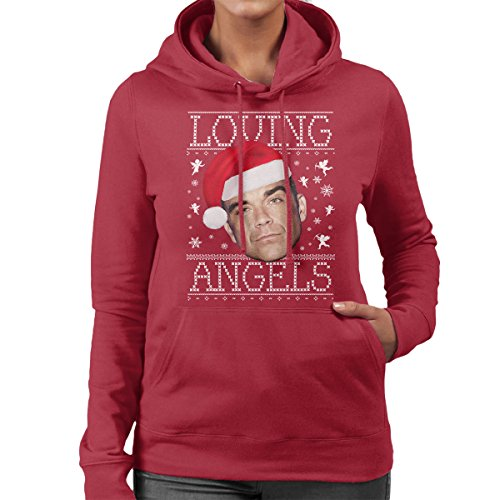loving-angels-robbie-williams-christmas-knit-womens-hooded-sweatshirt