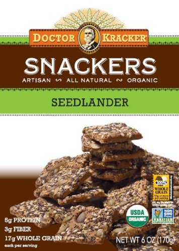 Dr. Kracker Snacker Bag N' Box Seedlander, 6-Ounce Bag N' Box (Pack Of 6)