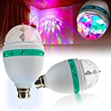 Lowprice Online TM 360 Degree LED Crystal Rotating Bulb Magic Disco LED Light ,LED Rotating bulb Light Lamp For Party/Home/Diwali Decoration