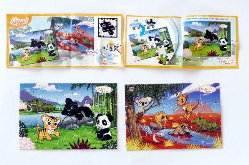 Kinder Überraschung, Natoons Puzzle Mixart 2014, zwei Puzzle und die beiden BPZ