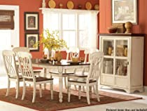 Hot Sale Ohana 5 Piece Dining Table Set by Homelegance in 2 Tone Antique White & Warm Cherry