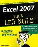 echange, troc Greg Harvey - Excel 2007 Pour les Nuls(Ancien prix éditeur : 22,90 Euros)