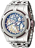 Invicta Men's 13761 Bolt Reserve Automatic Silver Tone Dial Stainless Steel Watch