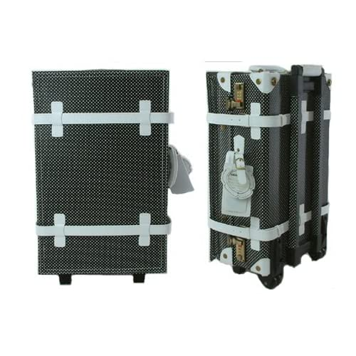 PVCトラベルスーツケース【34L約1~3泊用】ドット柄 ブラックxホワイト旅行・ビジネス・出張・修学旅行