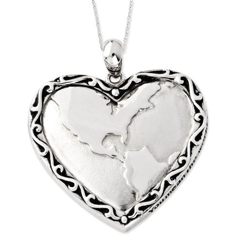 Sterling Silver You Mean The World To Me Sentimental Expressions Necklace