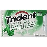 Trident White Spearmint Sugar Free Gum (9 Packs of 16 Pieces)