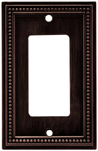 brainerd 64405 beaded single decorator wall plate switch plate. Black Bedroom Furniture Sets. Home Design Ideas