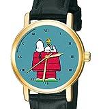 彼の犬小屋にスヌーピーピーナッツ、古典的な実存主義芸術、ユニセックス腕時計、30ミリメートル Snoopy Peanuts Watch