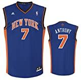 NBA New York Knicks Anthony C # 7 Boys 8-20 Replica Road Jersey, Large (14/16), Blue