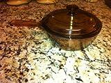Corning Vision Visionware Amber 0.5L Saucepan Pot w/Lid USA