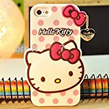 Go Crazzy Hello Kitty With Pendant Back Case For Iphone 6 Plus (White)