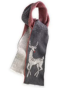 Green 3 Apparel made in USA Recycled Art Deco Deer Scarf