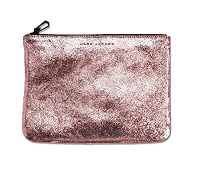 Best Cheap Deal for Marc Jacobs Metallic Leather Pouch by Nieman Marcus - Pink Makeup Bag - Pink Travel Bag - Great Gift for Her from Marc Jacobs - Free 2 Day Shipping Available