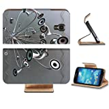 Variety Silver Metallic Speaker Design Samsung Galaxy S4 Flip Cover Case with Card Holder Customized Made to Order Support Ready Premium Deluxe Pu Leather 5 inch (140mm) x 3 1/4 inch (80mm) x 9/16 inch (14mm) Luxlady S IV S 4 Professional Cases Accessories Open Camera Headphone Port I9500 LCD Graphic Background Covers Designed Model Folio Sleeve HD Template Designed Wallpaper Photo Jacket Wifi 16gb 32gb 64gb Luxury Protector Micro SD Wireless Cellphone Cell Phone