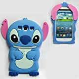 Focus 3D Blue Disney Lilo and stitch Silicone Case Cover for Samsung Galaxy S3 I9300 Xmas Gift