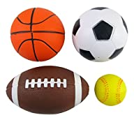 Set of 4 Sports Balls for Kids (Socce…