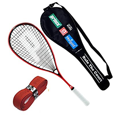 Prince Pro Airstick Lite 550 Squash Racket With full cover + 1 Replacement Grip
