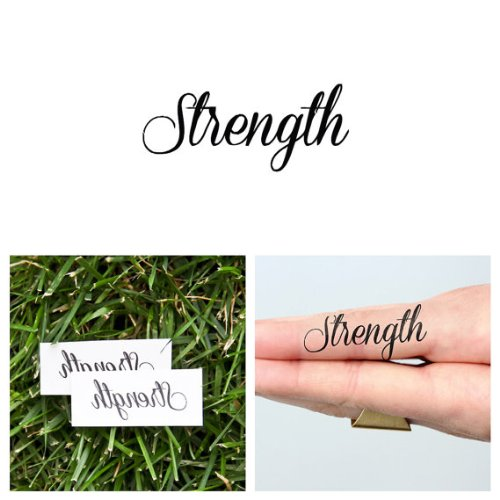 Strength Tattoo Quotes: Real Looking Temporary Tattoos Adults