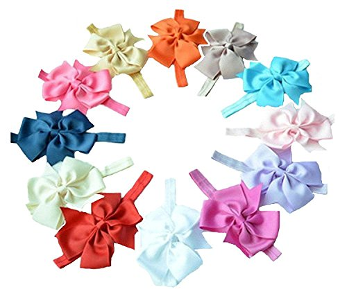 Qandsweet Baby Girl's Headbands Flower Hair Accessories