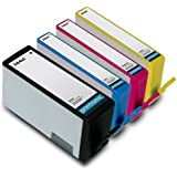 Printronic Remanufactured Ink Cartridge Replacement 4 Pack for HP 564XL High Yield Color Ink Cartridge (BK/C/M/Y)