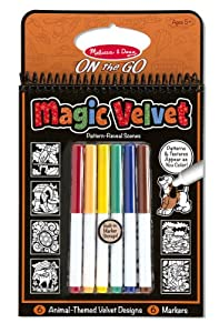 Melissa & Doug Magic Velvet Pattern Reveal Scenes-Animal