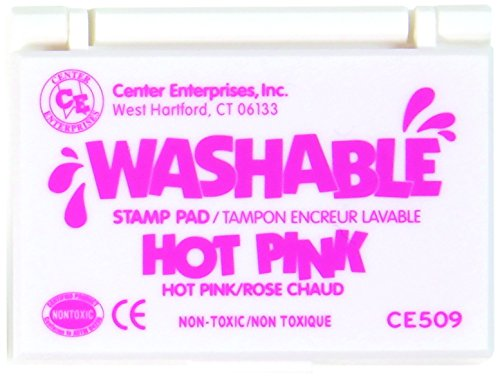 Center Enterprise CE509 Washable Stamp Pad, Hot Pink - 1