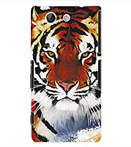 ColourCraft Tiger Back Case Cover for SONY XPERIA Z4 COMPACT