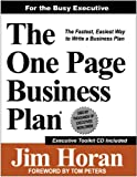 img - for The One Page Business Plan for the Busy Executive book / textbook / text book