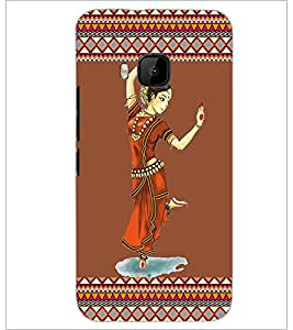PrintDhaba Dance D-2525 Back Case Cover for HTC ONE M9 (Multi-Coloured)
