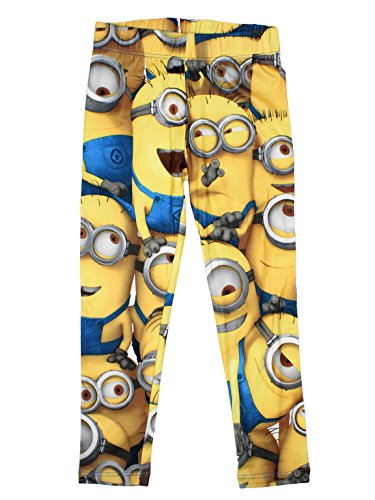 Minions Official Girls Legging 5/6 Years Yellow