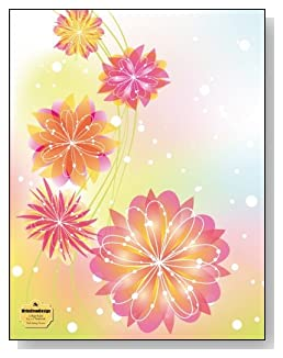 Pink Spring Flowers Notebook - Beautiful pink and yellow flowers against a colorful pastel background provide a sparkling Spring-like feel to the cover of this college ruled notebook.