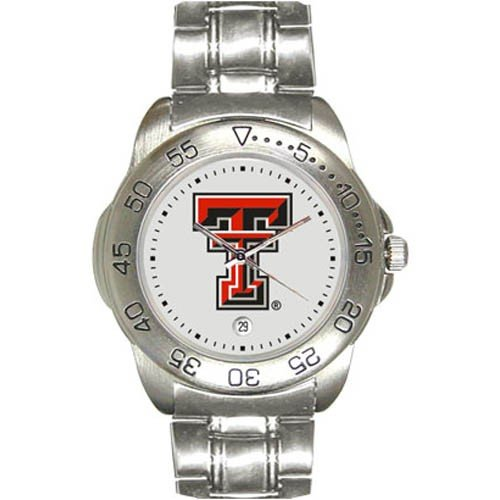 Texas Tech Red Raiders Men&#8217;s Gameday Sport Watch w/Stainless Steel Band