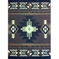 South West Native American Area Rug 5 Feet 11 Inch X 8 Feet 6 Inch Chocolate Design C318
