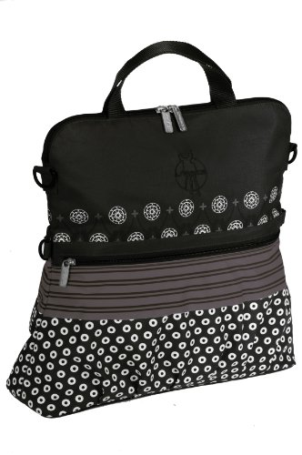 Lassig Casual Buggy Diaper Bag, Multimix Black