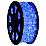 50 LED Rope Light Blue Home Outdoor Christmas Decorative Lighting 110v