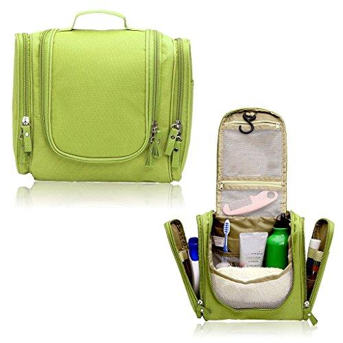Hipiwe Appendere Beauty Case da Viaggio Borsa da Toilette Impiccagione Outdoor Pratico Cosmetici Borsa da Viaggio per Accessori Bagno (Verde)