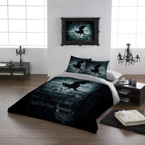 Alchemy Gothic - Set copripiumino Nevermore per letto king size 225x220 cm