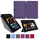 """rooCASE Amazon Kindle Fire HDX 8.9 Case - (2014 Current Generation) Origami Slim Shell 8.9-Inch 8.9"""" Smart Cover with Landscape, Portrait, Typing Stand - PURPLE"""